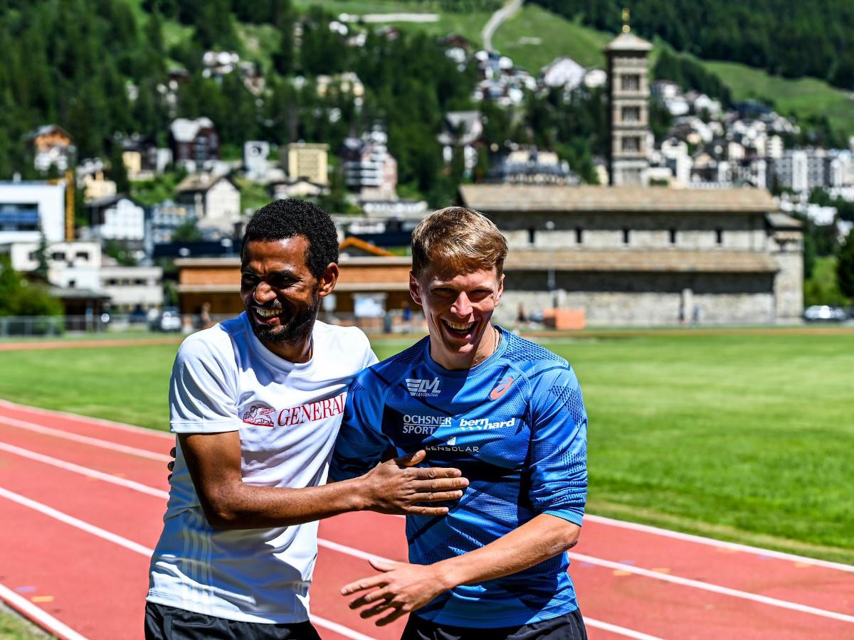 Adrian Lehmann und Tadesse Abraham