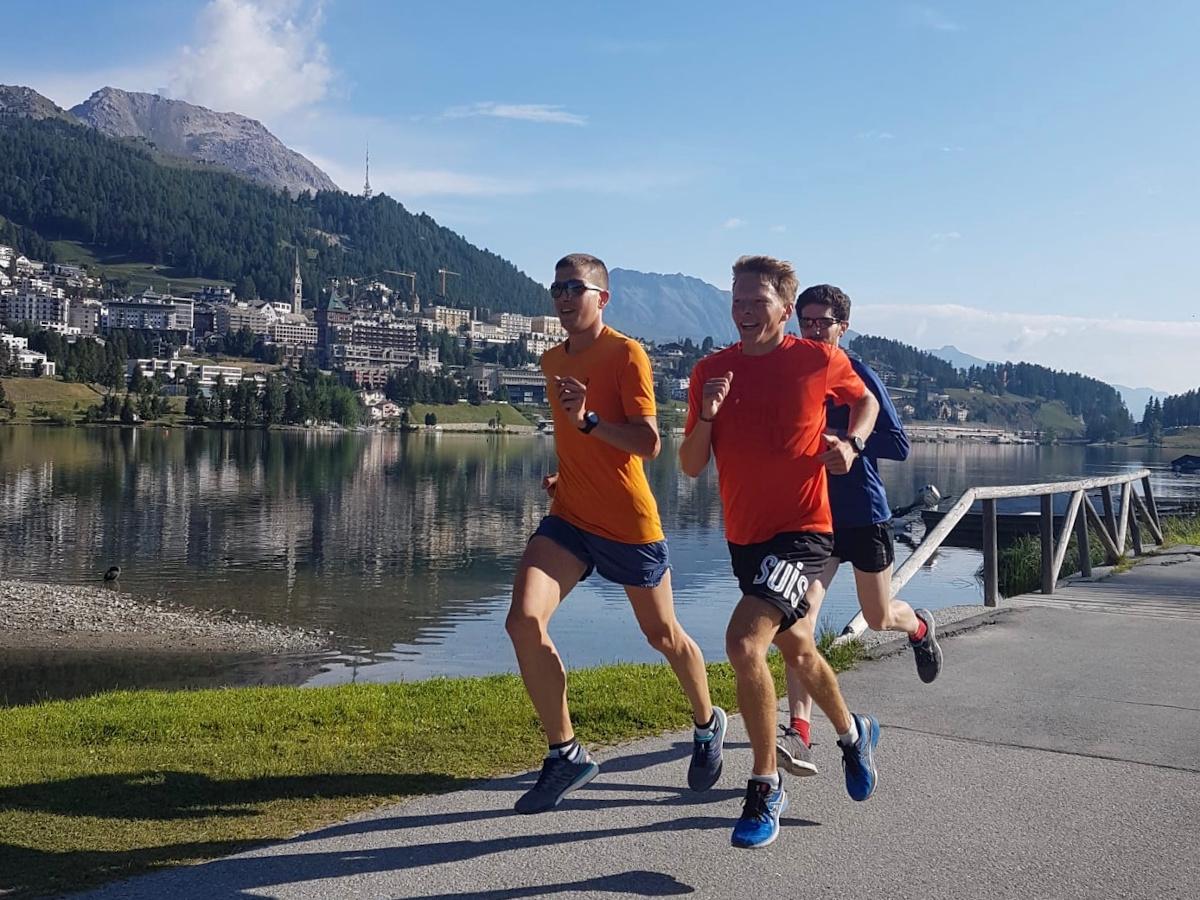 Armin Flückiger, Michael Ott und Adrian Lehmann beim Lauftraining